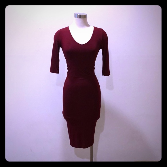 Black Bead Dresses & Skirts - *new* red wine colored dress